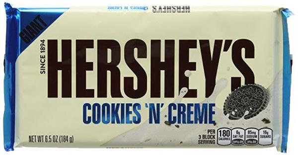 Hershey Cookies & Cream Bar Giant 184g