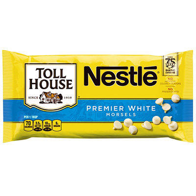 Nestle White Chocolate Morsels BB Feb 18