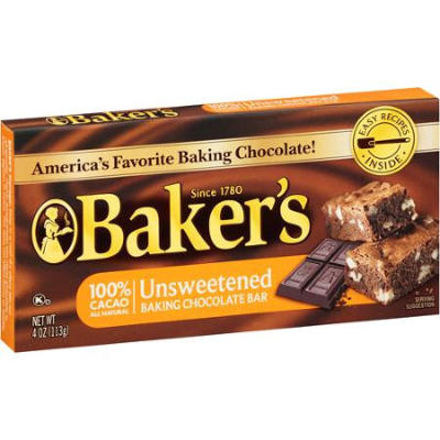 Bakers Unsweetened Cooking Chocolate