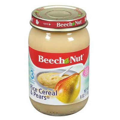 Beech Nut Baby Food Rice/Cereal /Pear