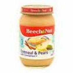 Beech Nut Baby Food Oatmeal/Pears with Cinnamon