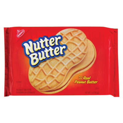 Nabisco Nutter Butter Peanut Cookies Single Serve Sept 17