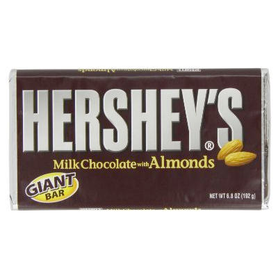 Hershey Bar with Almonds (Giant) b/b Aoril 2018