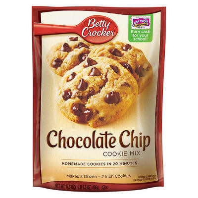 Betty Crocker Choc Chip Cookie Mix (lge pouches)