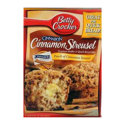 Betty Crocker Cinnamon Streusel Muffin Mix 430g   NEW LOWER PRICE