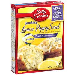 Betty Crocker Lemon & Poppyseed Muffin Mix