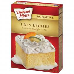 Duncan Hines Tres Leche Cake Mix BB 26 Jan18