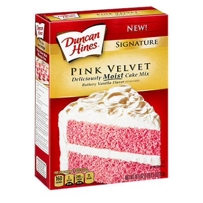 LIMITED OFFER  Duncan Hines Pink Velvet Cake Mix