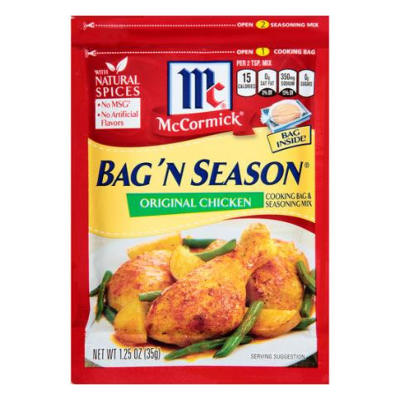 McCormick Bag 'N' Season Original Chicken BB OCT 16