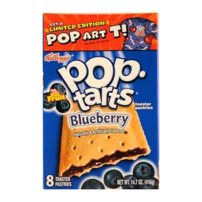 Kelloggs Pop Tarts Frosted Blueberry    NOW IN STOCK