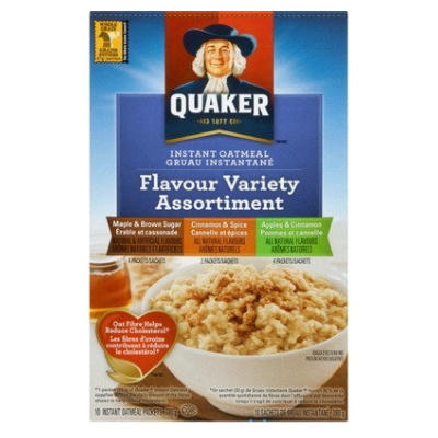 Quaker Instant Oatmeal Variety     BACK INTO STOCK AT NEW LOWER PRICE