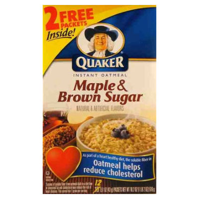 BACK IN STOCK Quaker Instant Oatmeal Maple & Brown Sugar