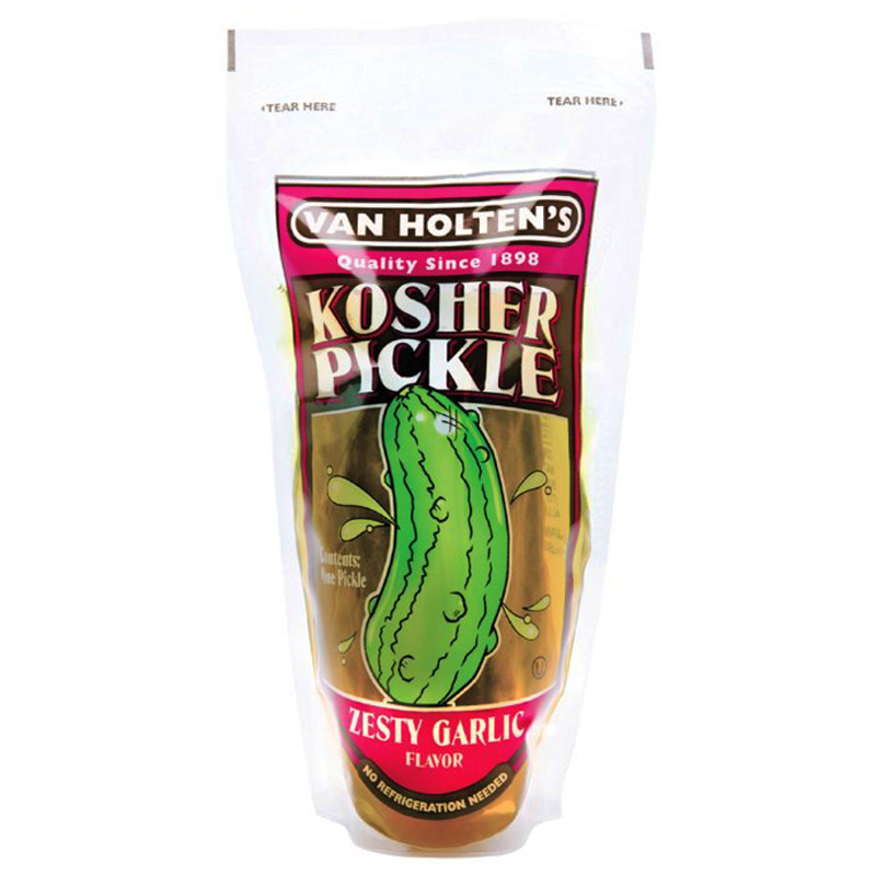Van Holtens Jumbo Pickle -Kosher Garlic